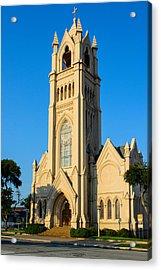 Saint Patrick Catholic Church Of Galveston Acrylic Print by Tikvah's Hope