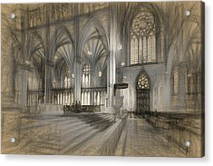 Saint Patrick's Cathedral In New York City Acrylic Print