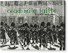 Saint Patricks Day Quote Acrylic Print by JAMART Photography