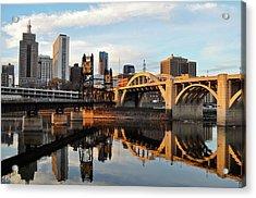 Saint Paul Mississippi River Sunset Acrylic Print