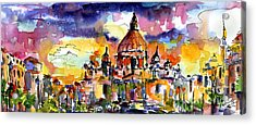 Saint Peter Basilica Rome Italy Acrylic Print by Ginette Callaway