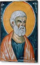 Saint Peter Acrylic Print by George Siaba