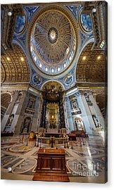 Saint Peter's Grandeur Acrylic Print by Inge Johnsson