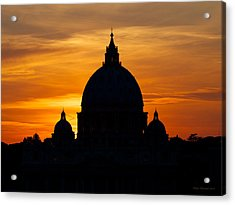 Saint Peters Sunset Acrylic Print