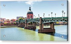 Saint-pierre Bridge In Toulouse Acrylic Print