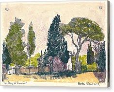 Saint Remy De Provence Landscape Acrylic Print by Martin Stankewitz