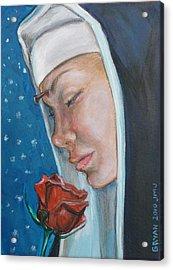 Saint Rita Of Cascia Acrylic Print by Bryan Bustard