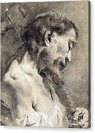 Saint Simon Acrylic Print by Giovanni Battista Piazzetta