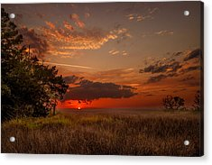 Saint Simons Island Salt Marsh Twilight Acrylic Print