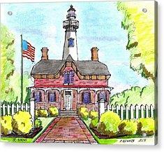 Saint Simons Lighthouse Acrylic Print by Paul Meinerth