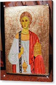 saint Stephan Acrylic Print by Ciocan Tudor-cosmin