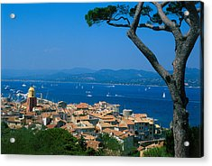 Saint-tropez - Provence Acrylic Print by Martial Colomb