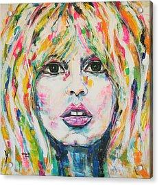 Saint Tropez Babe Acrylic Print