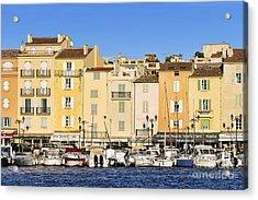 Saint-tropez Waterfront Acrylic Print by John Greim