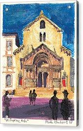 Saint Trophime Arles Provence Acrylic Print by Martin Stankewitz
