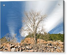 Saint Verain Sky Acrylic Print by James Steele