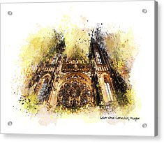 Saint Vitus Cathedral Prague Acrylic Print