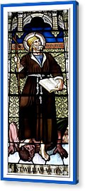 Saint William Of Aquitaine Stained Glass Window Acrylic Print