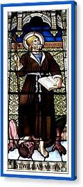 Saint William Of Aquitaine Stained Glass Window Acrylic Print by Rose Santuci-Sofranko