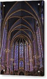 Sainte Chapelle Stained Glass Paris Acrylic Print