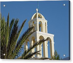 Acrylic Print featuring the photograph Saintorini A Testiment Of Time by Nancy Bradley