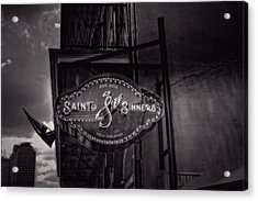 Saints And Sinners In Black And White Acrylic Print