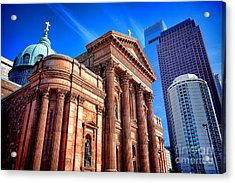 Saints Peter And Paul In Philadelphia   Acrylic Print by Olivier Le Queinec
