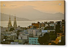 Saints Peter And Paul Spires Acrylic Print by Eric Tressler