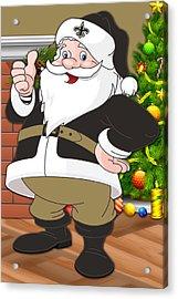 Saints Santa Claus Acrylic Print by Joe Hamilton
