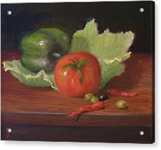 Salad By Alan Zawacki Acrylic Print