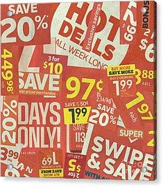 Sale Clippings Acrylic Print