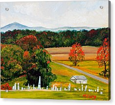 Salem Cemetery In October Acrylic Print by Hilary England