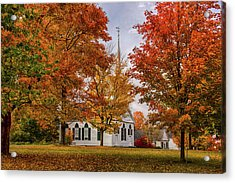 Acrylic Print featuring the photograph Salem Church In Autumn by Jeff Folger