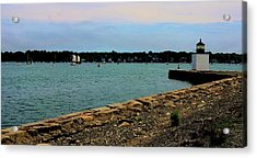 Salem Harbor Acrylic Print by Corinne Rhode