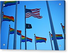 Salem Ma Flags Gay Pride Acrylic Print by Toby McGuire