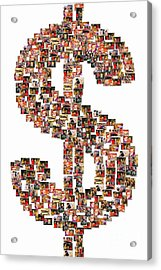 Sales Shopping Collage Acrylic Print