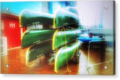 Acrylic Print featuring the photograph Salford Quays Boats by Isabella F Abbie Shores FRSA