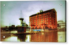 Acrylic Print featuring the photograph Salford Quays Edge by Isabella F Abbie Shores FRSA