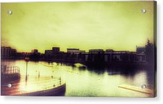 Acrylic Print featuring the photograph Salford Quays Promenade by Isabella F Abbie Shores FRSA