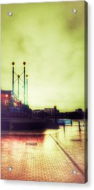 Acrylic Print featuring the photograph Salford Quays Walkway by Isabella F Abbie Shores FRSA