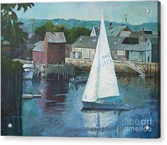 Saling In Rockport Ma Acrylic Print