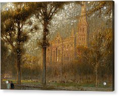 Salisbury Cathedral Acrylic Print by Albert Goodwin