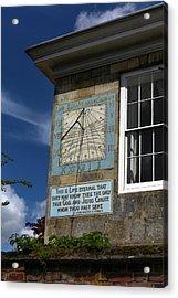 Salisbury Sundial Acrylic Print