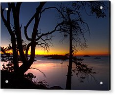 Salish Sunrise Acrylic Print by Randy Hall
