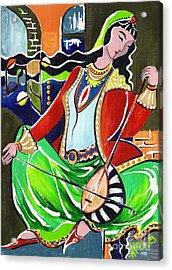 Sallaneh And Its Player Acrylic Print by Elisabeta Hermann