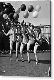 Sally Rand's Entertainers Acrylic Print by Underwood Archives