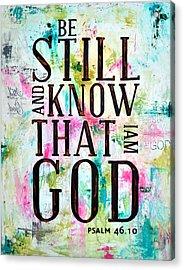 Salmo 46 10 Acrylic Print