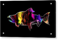 Salmon Abstract Art Acrylic Print
