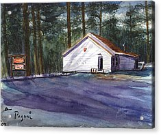 Acrylic Print featuring the painting Salmon River Grange by Chriss Pagani