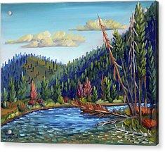 Salmon River - Stanley Acrylic Print